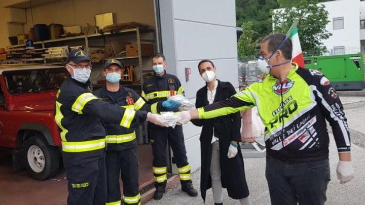 Il motoclub Valle dei Laghi dona mascherine ai volontari