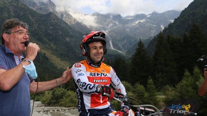 Toni Bou dopo due giorni a Ponte di Legno, non sarà presente domani.Comunicato Motoclub Dynamic Trial